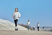 한국인, 건강관리 (주제), 달리기 (물리적활동), 조깅 (운동), 유산소운동 (운동), 어린이 (나이), 소녀