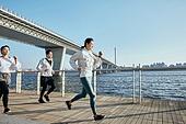 한국인, 건강관리 (주제), 달리기 (물리적활동), 조깅 (운동), 유산소운동 (운동), 속도 (컨셉)