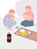 라이프스타일, 음식, 배달음식, 피자, 콜라