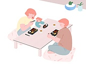 라이프스타일, 음식, 배달음식, 돈가스, 도시락 (점심시간), 가족, 아기 (나이)