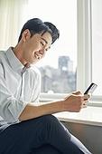 한국인, 비즈니스, 비즈니스맨, 휴대폰, 스마트폰, 디지털 (기술), 휴대폰 (전화기)