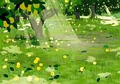 풍경 (컨셉), 여름, 계절, 자연풍경, 유화 (회화기법), 숲, 나무, 그림자, 빛 (자연현상)