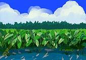 풍경 (컨셉), 여름, 계절, 자연풍경, 유화 (회화기법), 구름
