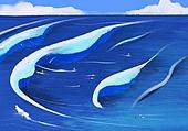 풍경 (컨셉), 여름, 계절, 바다, 휴양지, 파도 (바다), 서핑, 구름