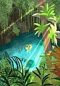 풍경 (컨셉), 여름, 계절, 바다, 휴양지, 야자나무 (열대나무)