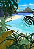 풍경 (컨셉), 여름, 계절, 바다, 휴양지, 해변 (해안), 야자나무 (열대나무), 해변