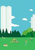 서울 (대한민국), 랜드마크, 봄, 풍경 (컨셉), 공원, 풀 (식물), 고층빌딩 (회사건물)