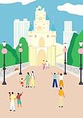 서울 (대한민국), 랜드마크, 봄, 풍경 (컨셉), 테마파크 (엔터테인먼트빌딩)