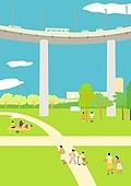서울 (대한민국), 랜드마크, 봄, 풍경 (컨셉), 공원, 풀 (식물), 한강공원 (서울)