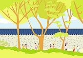 서울 (대한민국), 랜드마크, 봄, 풍경 (컨셉), 덕수궁돌담길 (덕수궁), 나무