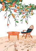 백그라운드, 백그라운드 (주제), 모바일백그라운드 (이미지), 풍경 (컨셉), 휴양지, 나무, 복숭아나무