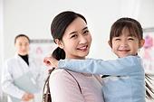 병원, 진찰 (치료), 의사, 가족, 엄마, 딸, 조언 (컨셉)