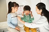 병원, 진찰 (치료), 의사, 소년, 소녀