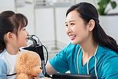 병원, 진찰 (치료), 의사, 소녀, 휠체어