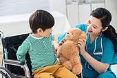 병원, 진찰 (치료), 의사, 휠체어