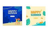 여름,배너,일러스트,팝업