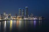 야경,밤,조명,빛,불빛,풍경[경치],전경,실외,엘시티,아파트,고층빌딩,빌딩,건축,주택,해운대,해운대구,부산,한국,국내여행,