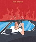 화, 화 (컨셉), 분노조절장애, 운전, 자동차, 남성 (성별)