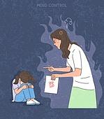 화, 화 (컨셉), 분노조절장애, 어린이 (나이), 시험지, 엄마