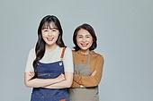 한국인, 상인 (소매업자), 여성, 팔짱[혼자] (몸의 자세)