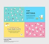 그래픽이미지, 패턴, 캐릭터, 동물, 일러스트