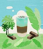 여름, 음료, 차가운음료 (무알콜음료), 치즈나무 (열대관목), 민트초코, 초콜릿 (달콤한음식)