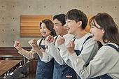 한국인, 상점, 시간제근무 (직업), 소유자 (직업), 미소, 희망 (컨셉), 파이팅 (흔들기), 결의 (컨셉)