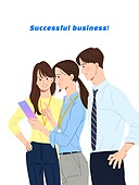 사람, 비즈니스, 사람들, 여러명[3-5] (사람들), 비즈니스우먼, 비즈니스맨, 팀워크 (협력), 협력, 청년 (성인)