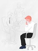 화이트칼라 (전문직), 비즈니스, 스트레스, 회의실, 지루함 (컨셉), 하품