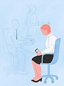 화이트칼라 (전문직), 비즈니스, 스트레스, 회의실, 지루함 (컨셉), 스마트폰