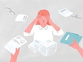 화이트칼라 (전문직), 비즈니스, 스트레스, 일 (물리적활동), 걱정, 과로