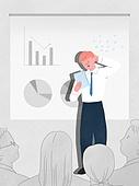 화이트칼라 (전문직), 비즈니스, 스트레스, 프리젠테이션 (연설), 황당 (컨셉), 사람들, 비즈니스미팅 (미팅)