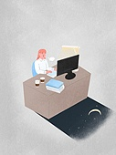 화이트칼라 (전문직), 비즈니스, 야간근무 (고용문제), 스트레스, 책상