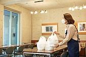 한국인, 음식, 포장, 상인 (소매업자), 고객 (역할), 여성, 쌓아올림 (배열)
