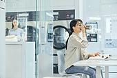 무인세탁소, 빨래, 세탁기, 빨래바구니, 건조기, 세탁업자 (가게), 휴식
