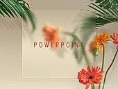파워포인트, 메인페이지, 백그라운드, 글래스모피즘, 식물학, 유리, 투명, 깨끗함, 프레임, 야자잎, 꽃
