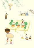 음식, 한식 (아시아음식), 전통음식, 보양식, 복날, 전통문화 (주제), 한복, 탑앵글 (카메라앵글), 전복
