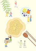 음식, 한식 (아시아음식), 전통음식, 보양식, 복날, 전통문화 (주제), 한복, 탑앵글 (카메라앵글), 전복죽
