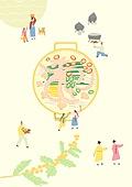 음식, 한식 (아시아음식), 전통음식, 보양식, 복날, 전통문화 (주제), 한복, 탑앵글 (카메라앵글), 연포탕 (탕)