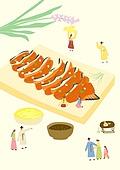 음식, 한식 (아시아음식), 전통음식, 보양식, 복날, 전통문화 (주제), 한복, 탑앵글 (카메라앵글), 장어구이