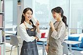 카페, 바리스타, 카페테리아직원 (음식서비스직), 대화, 희망 (컨셉)