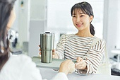 카페, 바리스타, 카페테리아직원 (음식서비스직), 대화, 제로웨이스트
