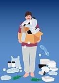 야식, 배달 (일), 배달음식, 플라스틱, 쓰레기 (물체묘사), 재활용 (환경보호)