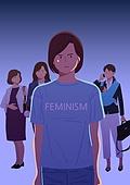 사람, 싫어함 (컨셉), 성차별 (편견), 사회이슈 (주제), 갈등, 페미니즘 (여성이슈)