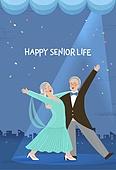 실버라이프, 실버라이프 (주제), 활력, 활력 (컨셉), 즐거움 (컨셉), 건강한생활 (주제), 오팔세대, 노인커플 (커플), 취미, 댄스스포츠