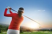 골프, MZ세대, 운동, 골프장, 풍경 (컨셉), 뒷모습