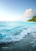 바다, 해변, 풍경 (컨셉), 시원함 (컨셉), 카피스페이스 (콤퍼지션), 여름, 갈매기, 파도 (바다)