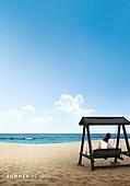 바다, 해변, 풍경 (컨셉), 시원함 (컨셉), 카피스페이스 (콤퍼지션), 여름