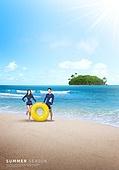 바다, 해변, 풍경 (컨셉), 시원함 (컨셉), 카피스페이스 (콤퍼지션), 여름, 커플, 섬