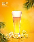 여름, 음료, 시원함 (컨셉), 맥주, 포스터, 맥주잔
